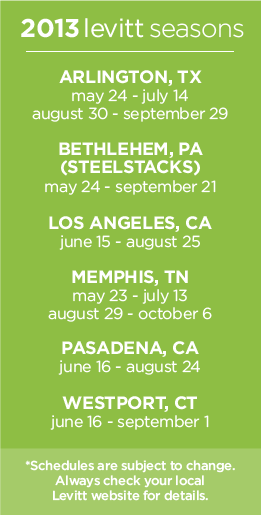 Levitt Pavilions 2013 season dates
