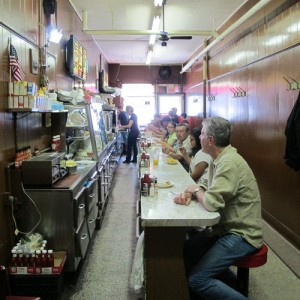 Anthony Bourdain at Duly's in Detroit.