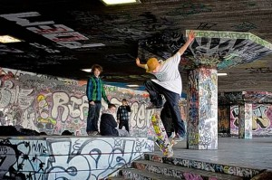 Skateboarders in the Southbank's undercroft