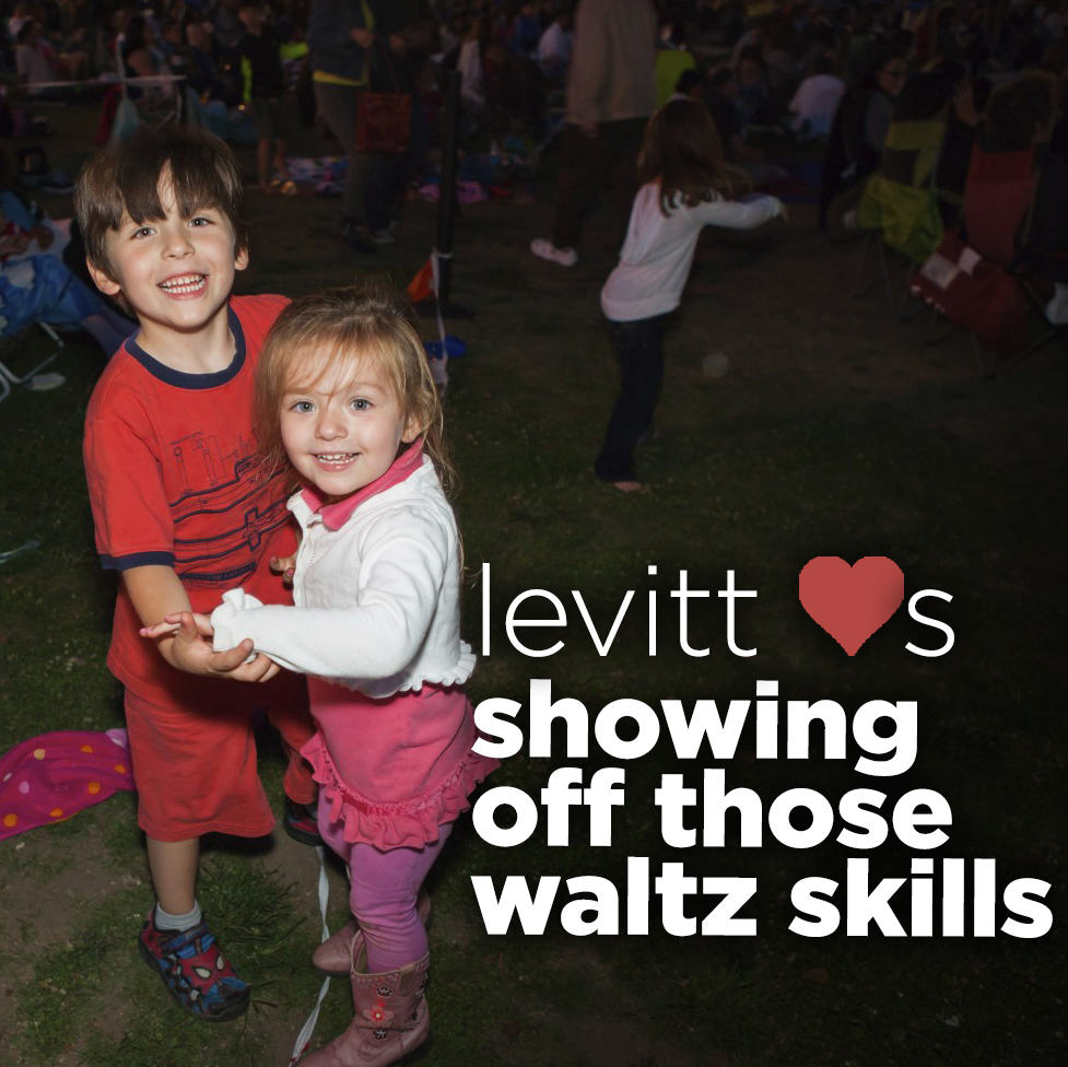 Levitt LOVES...showing off those waltz skills!