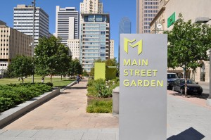 Dallas's new Main Street Garden, one of the stops on the Public Art Walk