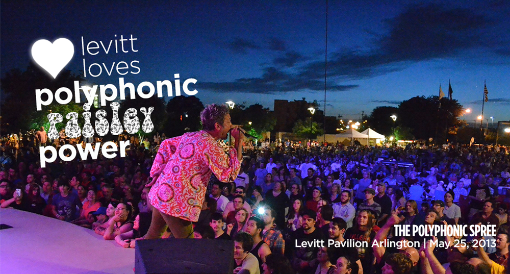 Polyphonic Spree at Levitt Pavilion Arlington, May 2013