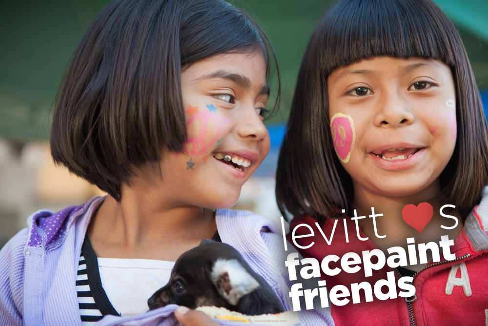 Levitt loves facepaint friends