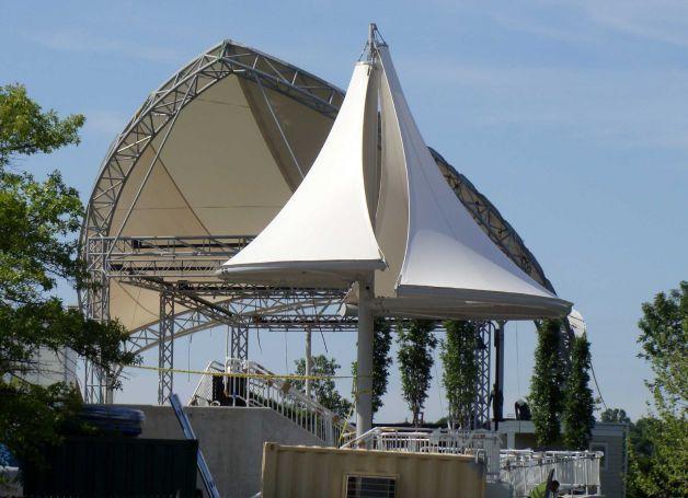 Part of the new Levitt Pavilion Westport