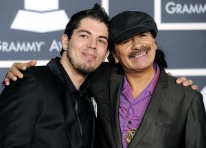 Salvador and Carlos Santana