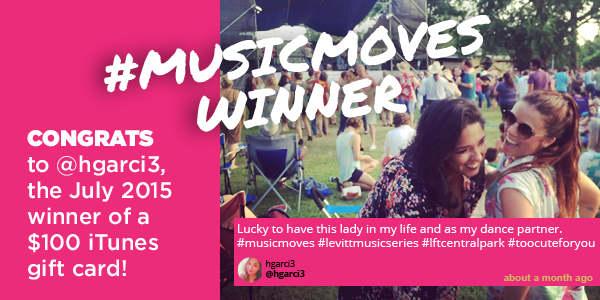 #musicmoves winner