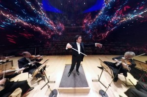 Gustavo Dudamel conducting the VAN Beethoven experience. Photo courtesy of the LA Phil.