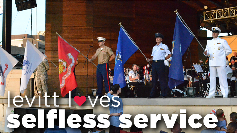 Levitt loves - selfless service