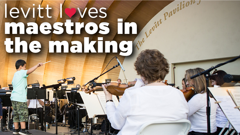 Levitt loves...maestros in the making!