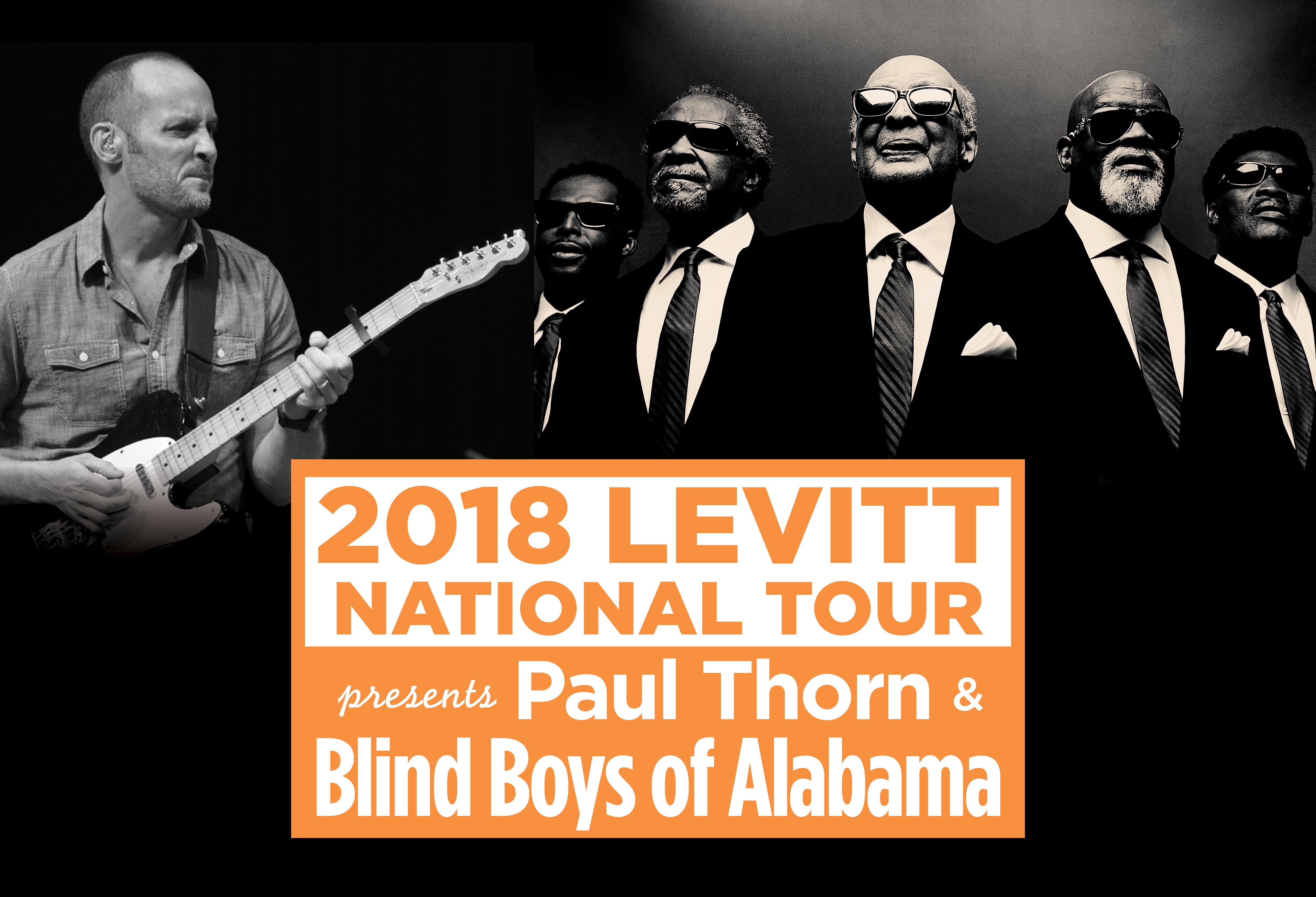 Paul Thorn and Blind Boys of Alabama to headline Levitt
