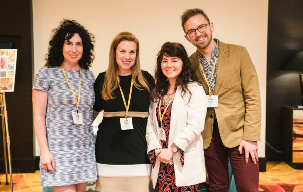Catching our breath to say hello: Summit Executive Co-Producers Vanessa Silberman and Sharon Yazowski of the Levitt Foundation with NCCP's Andrea Orlando and Thomas Young