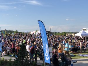 The packed lawn