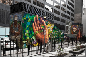 A Philadelphia mural made possible by the city's Mural Arts Program.