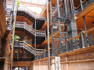Inside the Bradbury Building...does it look familiar?