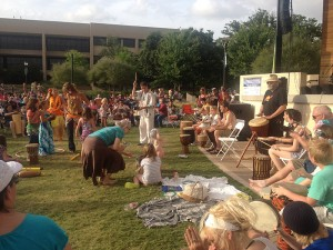 Levitt Arlington drum circle participants came out in huge numbers before Playing For Change's show!