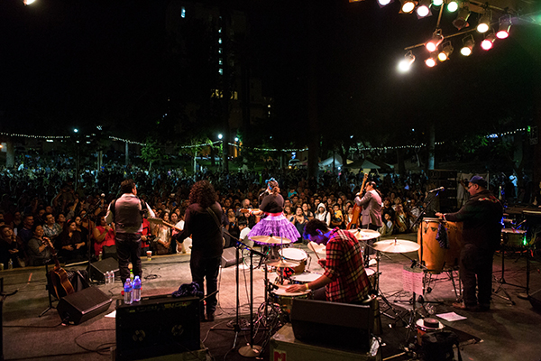 La Santa Cecilia performs at Levitt Los Angeles.