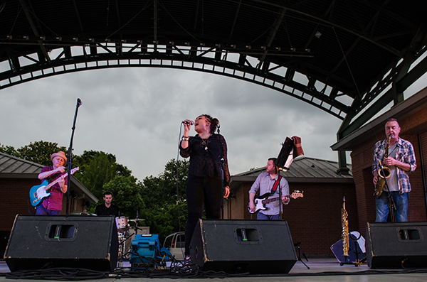 Marcella and Her Lovers performing at the Levitt AMP Lafayette Music Series. Photo by Sara Virginia Yongue.