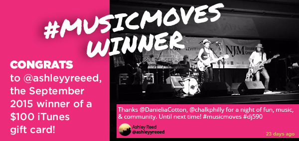 September #musicmoves winner
