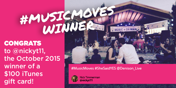 October #musicmoves Winner
