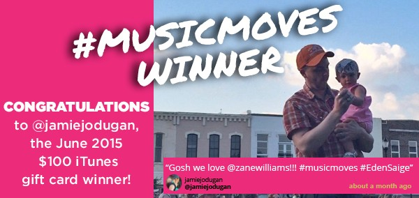 June #musicmoves winner