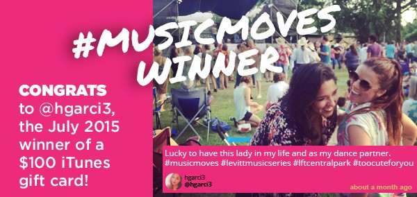 July #musicmoves winner