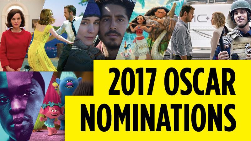 2017 Oscars Noms Banner