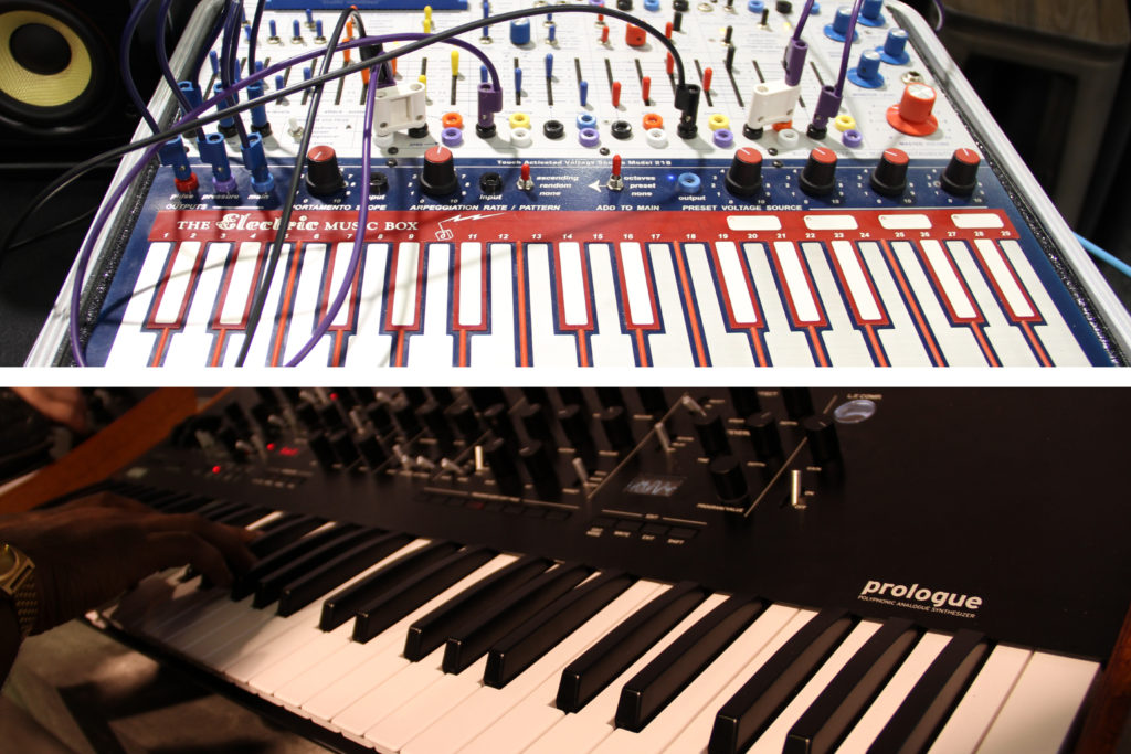 From top to bottom: The Buchla Music Easel, The Korg Prologue