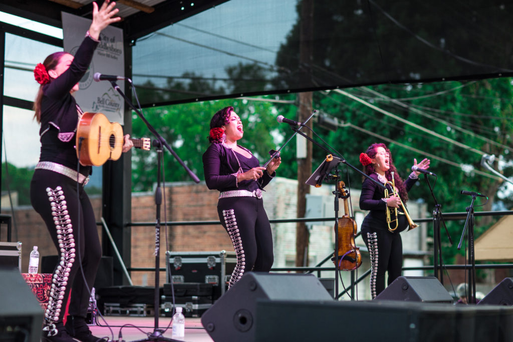 Flor De Toloache performing at the Levitt AMP stage in Middlesboro, Ky in 2018.