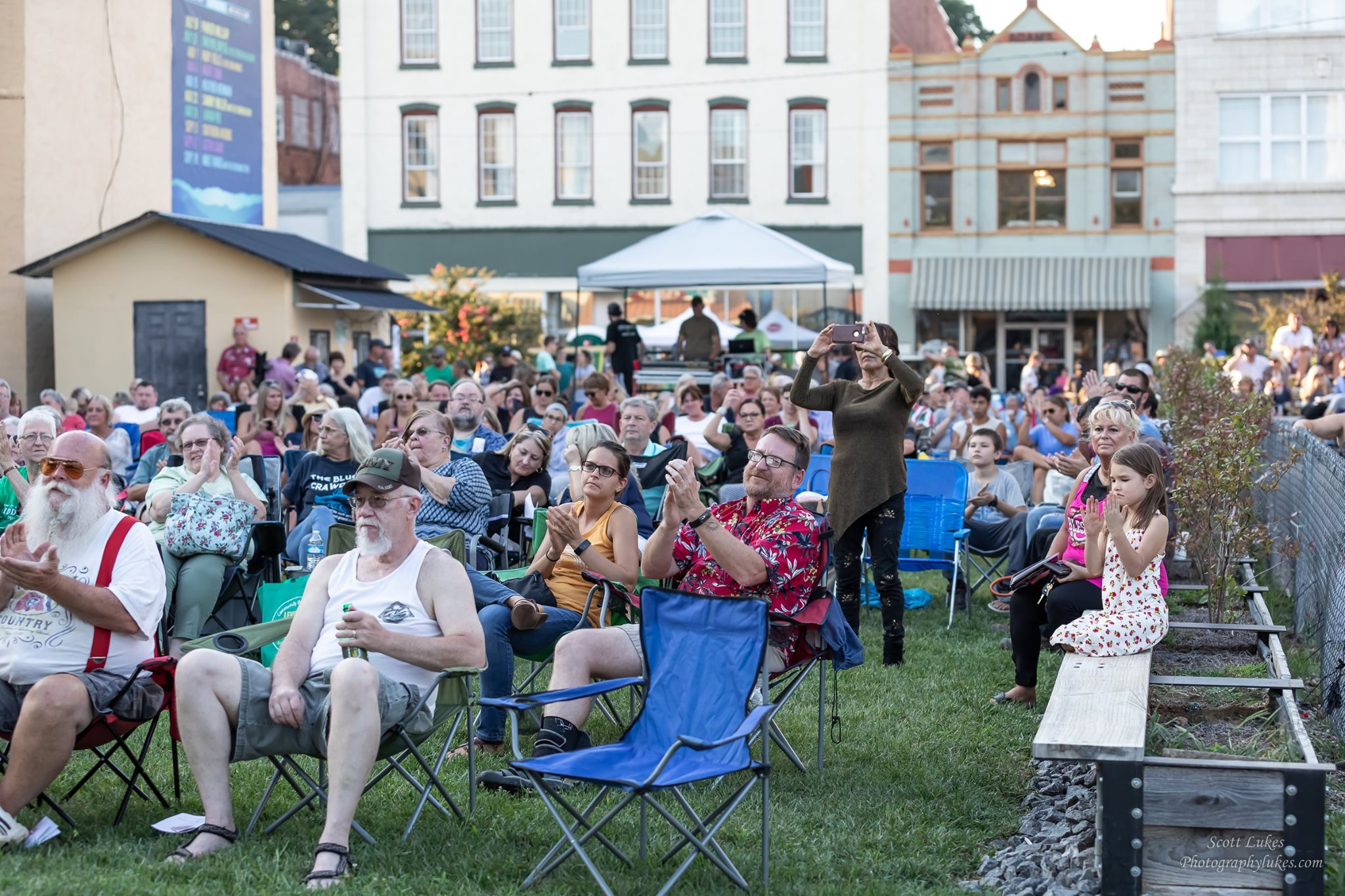 Music fans on the lawn last summer at Levitt AMP Middlesboro