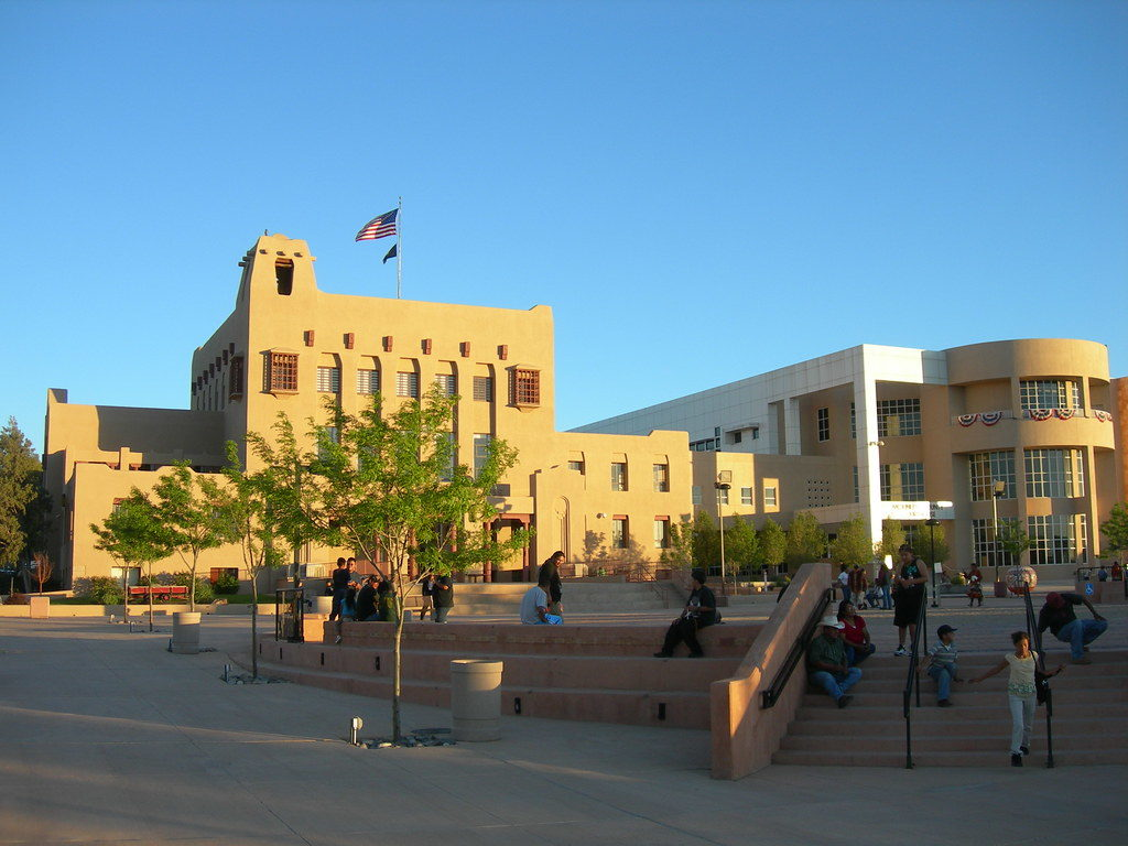 Courthouse Square in Gallup, New Mexico, the future home of the Levitt AMP Gallup Music Series.