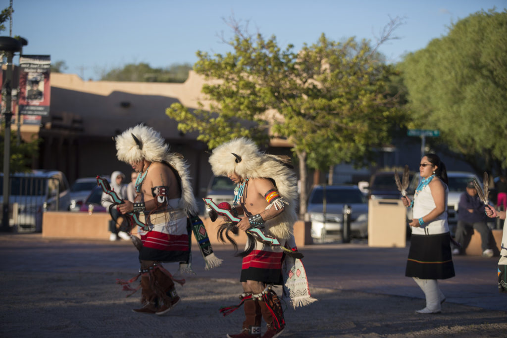 Nightly Indian Dances in Courthouse Square (2019); Photo courtesy: Cayla Nimmo
