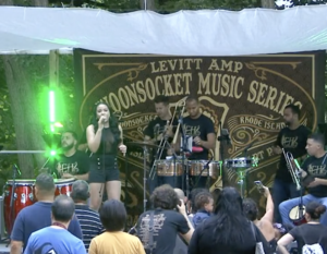 EhShawnee performs at Levitt AMP Woonsocket in 2018