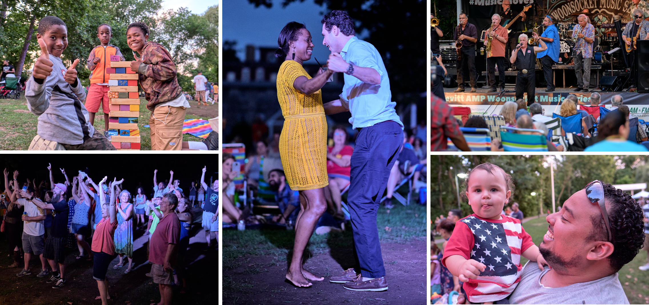 Joyous scenes from the 2018 and 2019 Levitt AMP Woonsocket Music Series