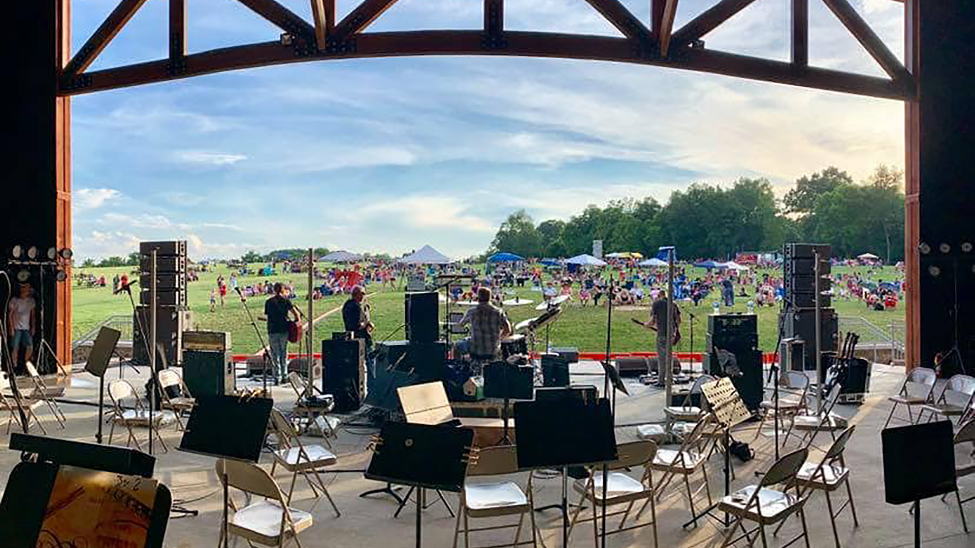 The view from the stage at the AMP at Sam Michaels Park