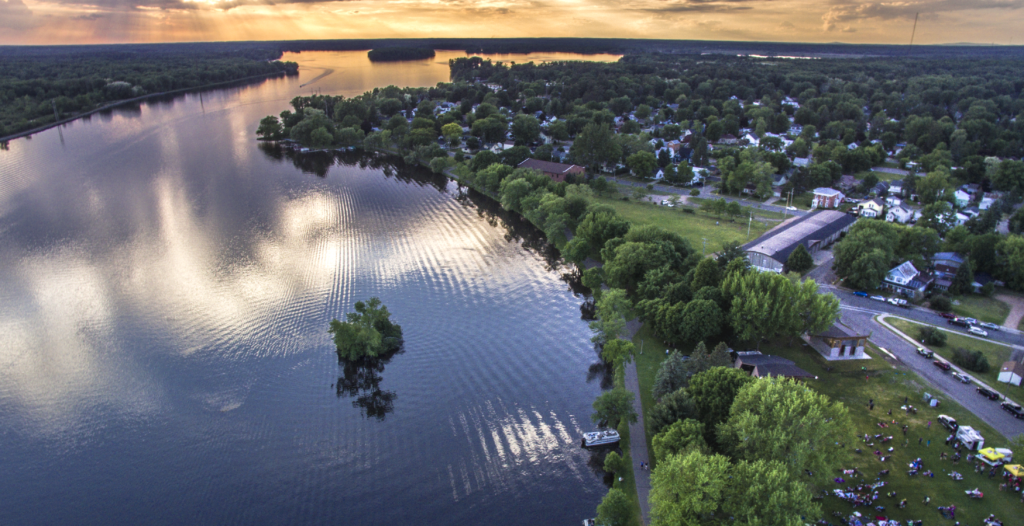 The view from above of Pfiffner Pioneer Park
