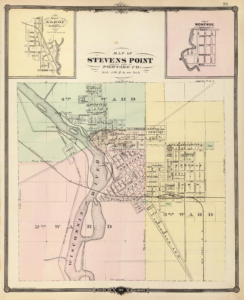 An 1878 map of Stevens Point, WI