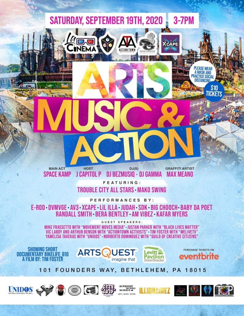 """Arts, Music and Action"" at Levitt Pavilion SteelStacks"