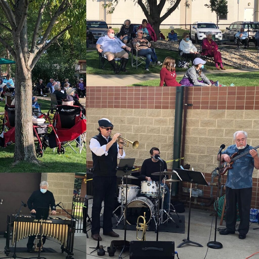 "Jim McKinney Quartet performs a socially distanced pop-up concert as part of Levitt Shell Sioux Falls ""Levitt in Your Neighborhood"" series"