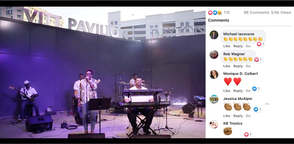 C. Baccus & Co. performs as part of Levitt Pavilion Dayton's Levitt on Your Lawn virtual series