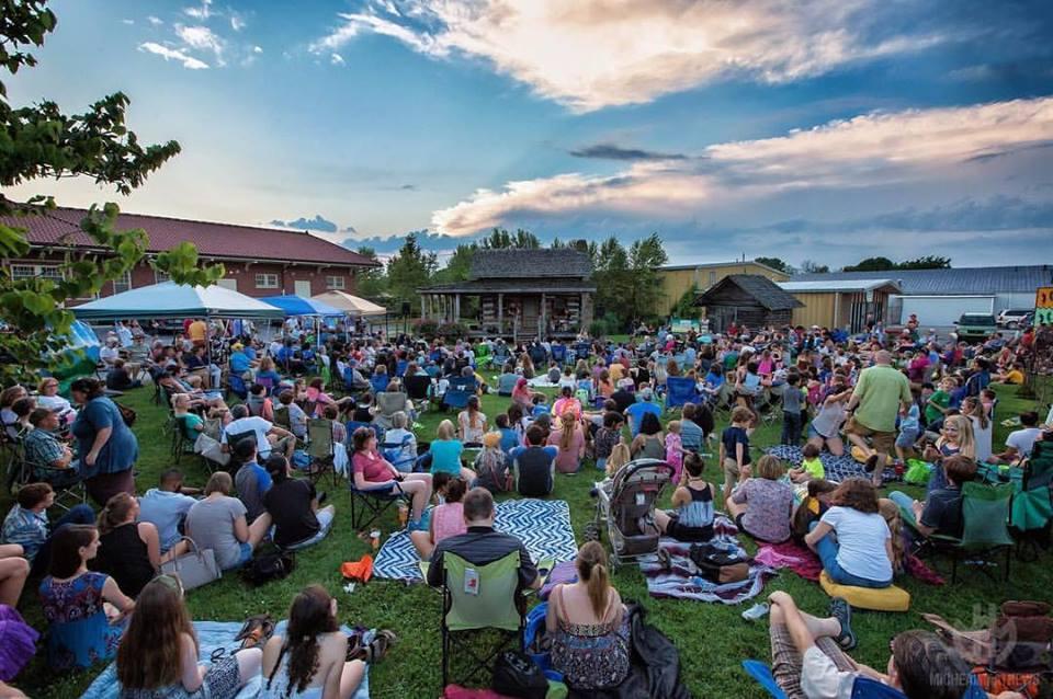 A large crowd enjoys a Levitt AMP Berea concert in 2017.