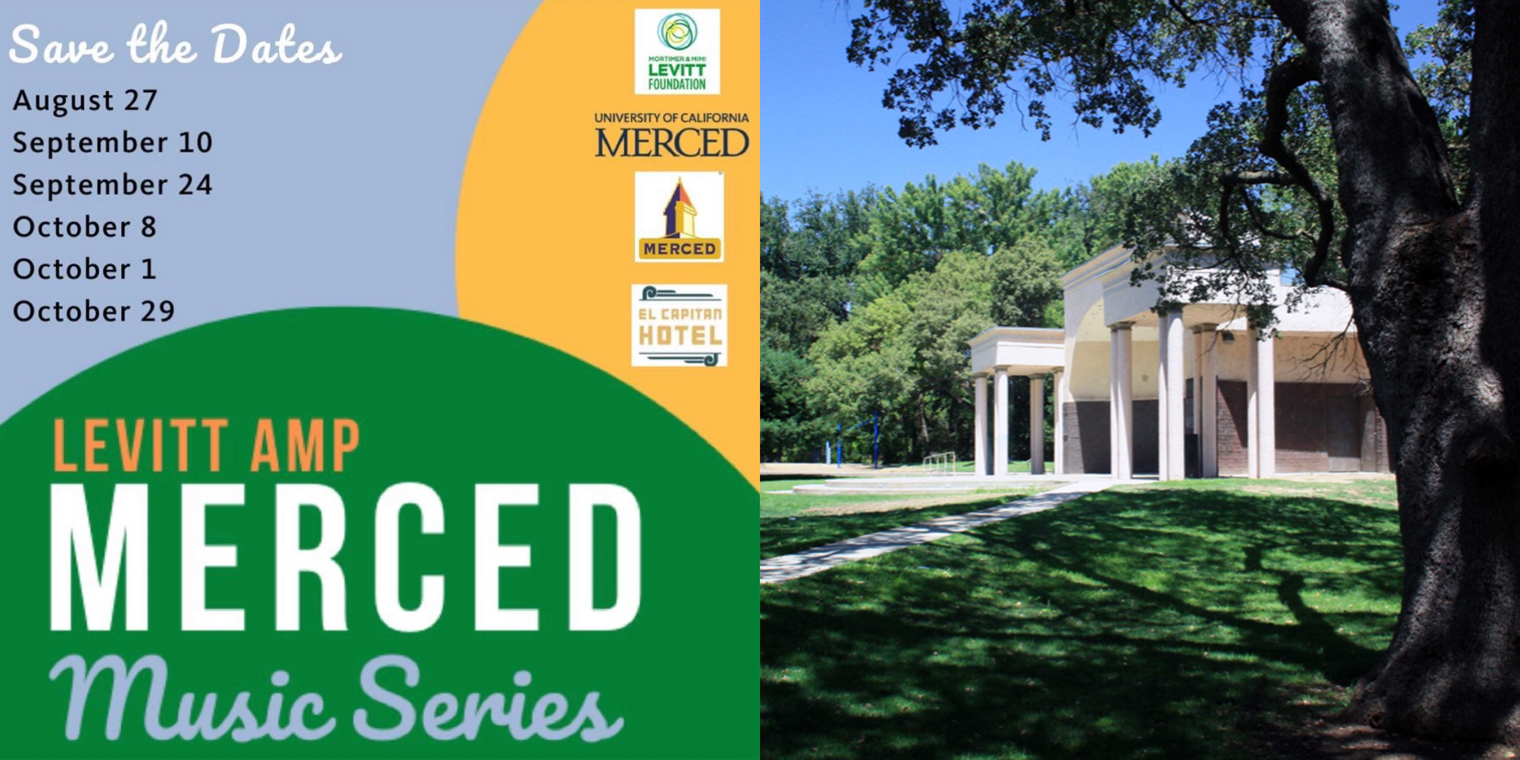 This August Levitt AMP Merced will host its first concert series at Applegate Park's Open Air Stage In Merced.