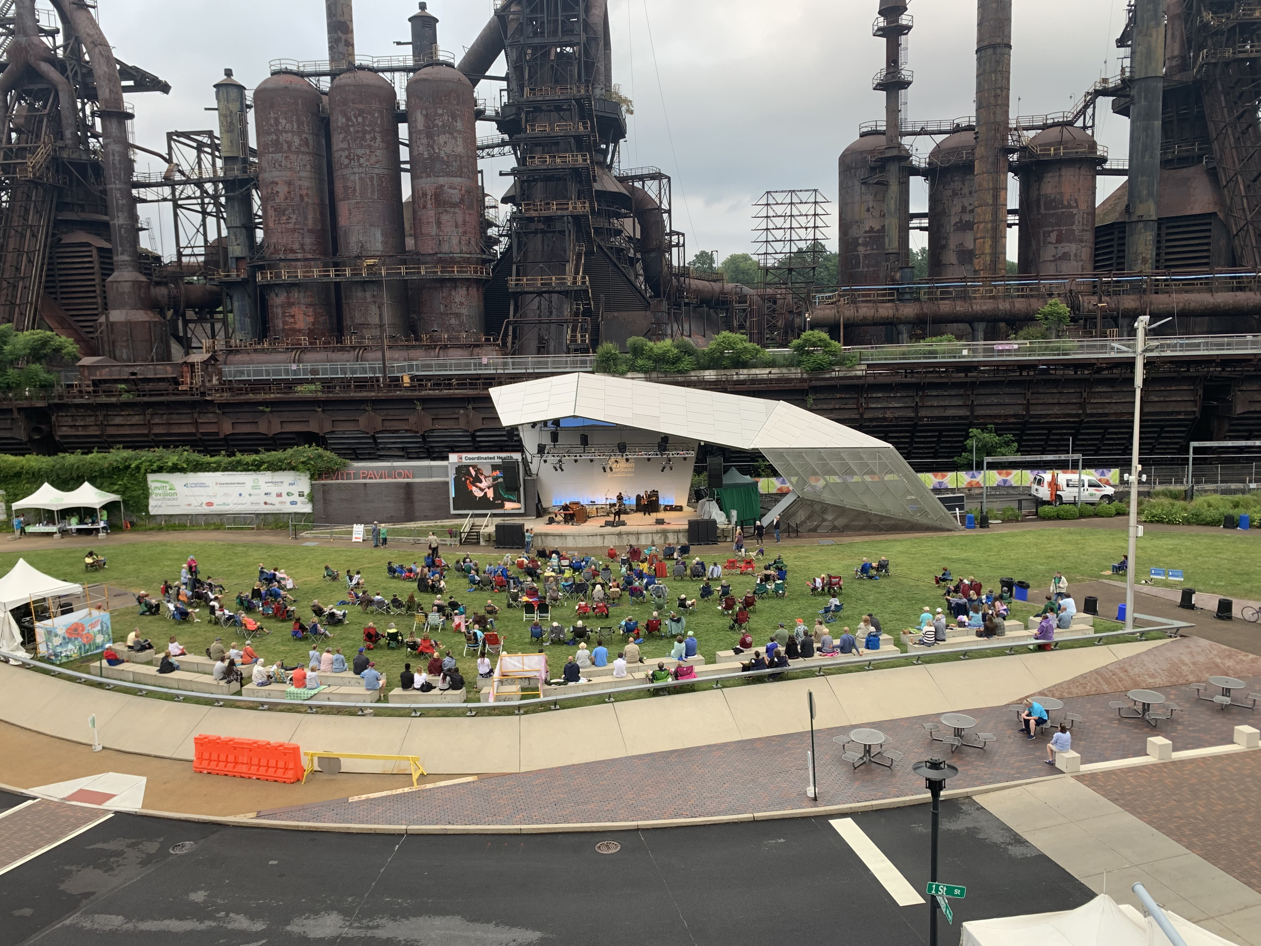 GRAMMY Award-winning blues sensation Ruthie Foster performs at Levitt Pavilion SteelStacks on a recent August evening at the base of the iconic blast furnaces that once powered Bethlehem Steel.