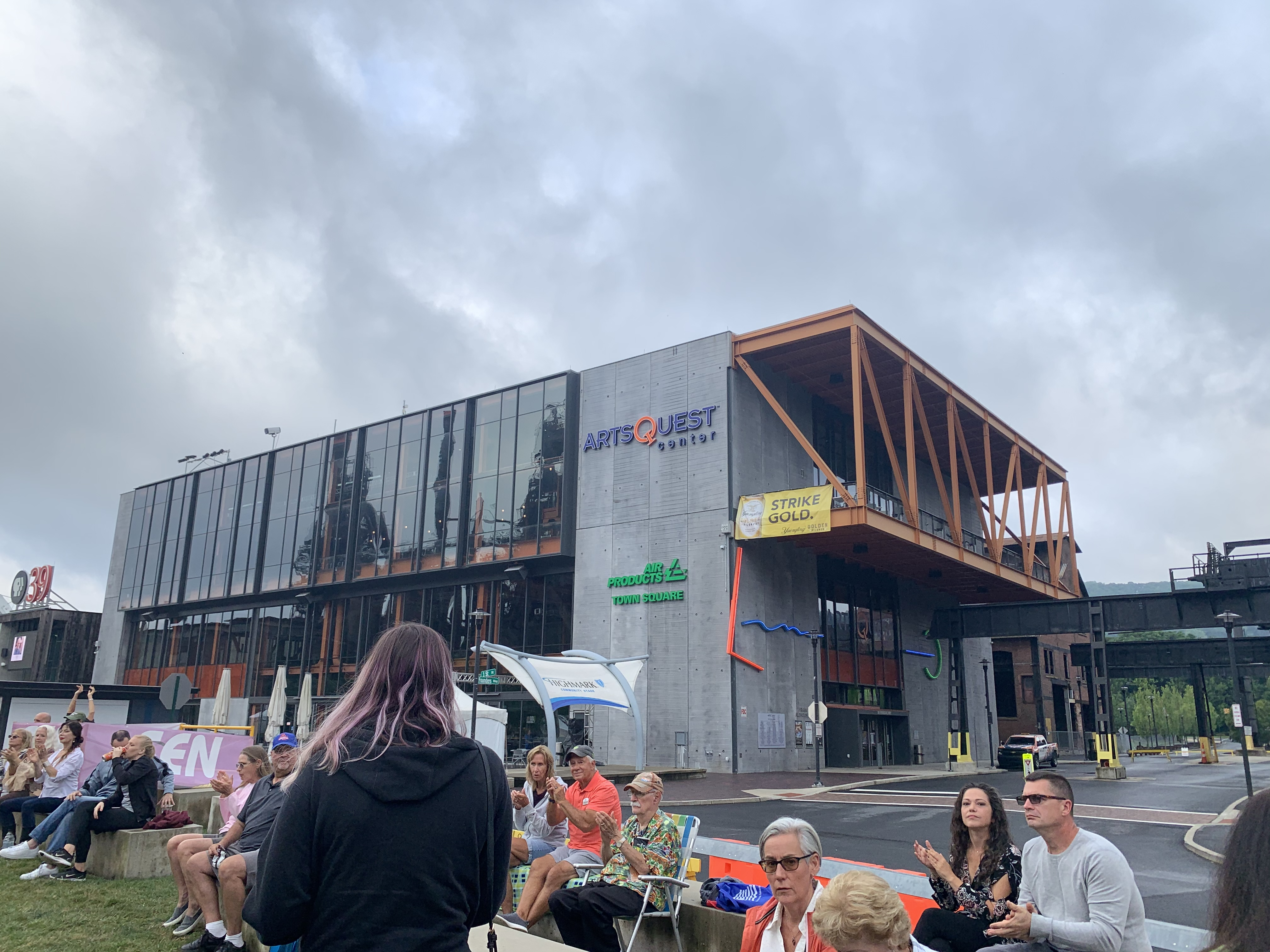 The ArtsQuest Center is a community space located across from the Levitt Pavilion SteelStacks stage that hosts performers and arts programming in Bethlehem, Pa.
